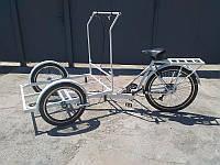 Велосипед трехколесный грузовой «Кофейный»  велосипед для уличной торговли RYMAR R-V-00117