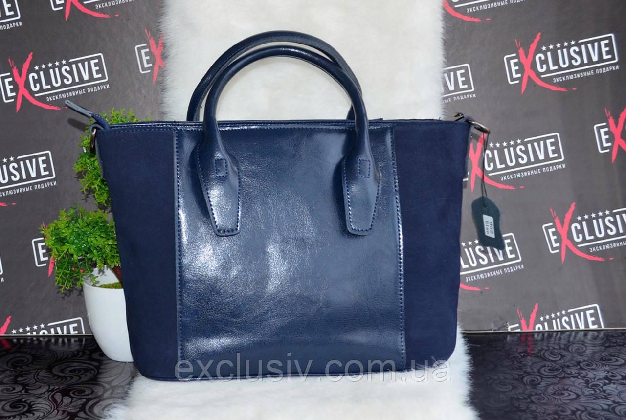 ee71b1fd169a Стильная синяя женская КОЖАНАЯ сумка.: продажа, цена в Чернигове ...