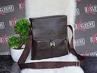Стильная коричневая мужская сумка., фото 1