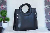 Черная женская кожаная сумка., фото 1