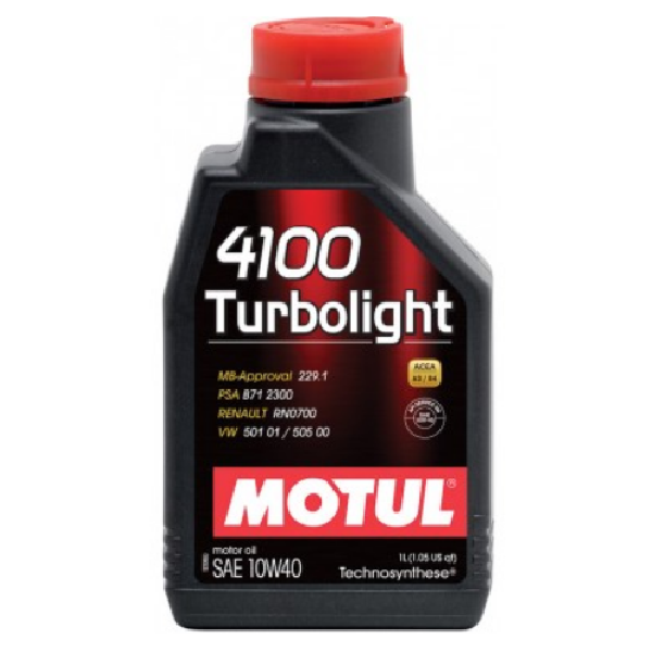 Масло моторное Motul 4100 Turbolight 10W-40 1л