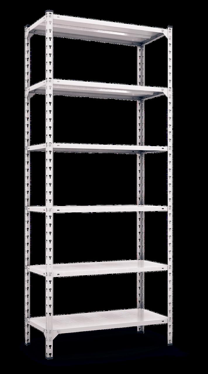 Стеллаж полочный Комби (3120х1200х500), на болтовом соединении, 6 полок (металл), 180 кг/полка