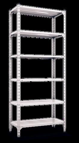 Стеллаж полочный Комби (3120х1200х500), на болтовом соединении, 6 полок (металл), 180 кг/полка, фото 2