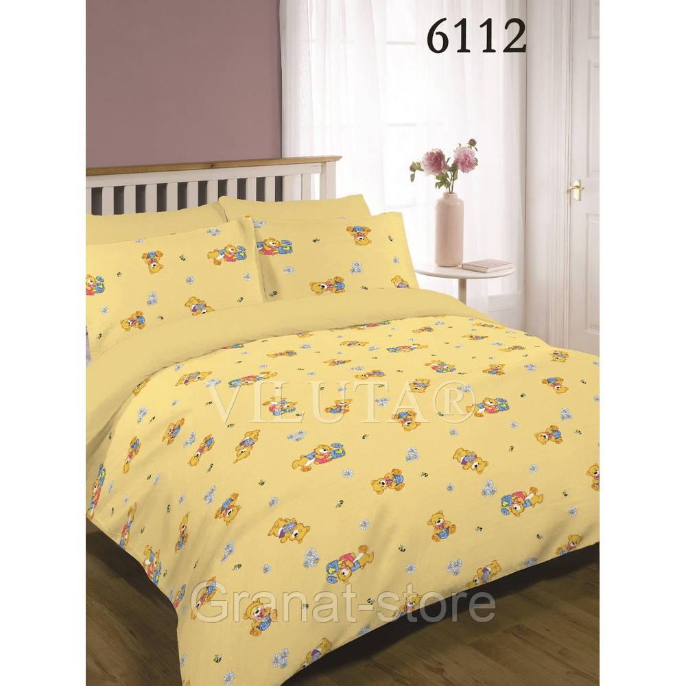 6112 желтый Комплект постельного белья детский ранфорс Вилюта.