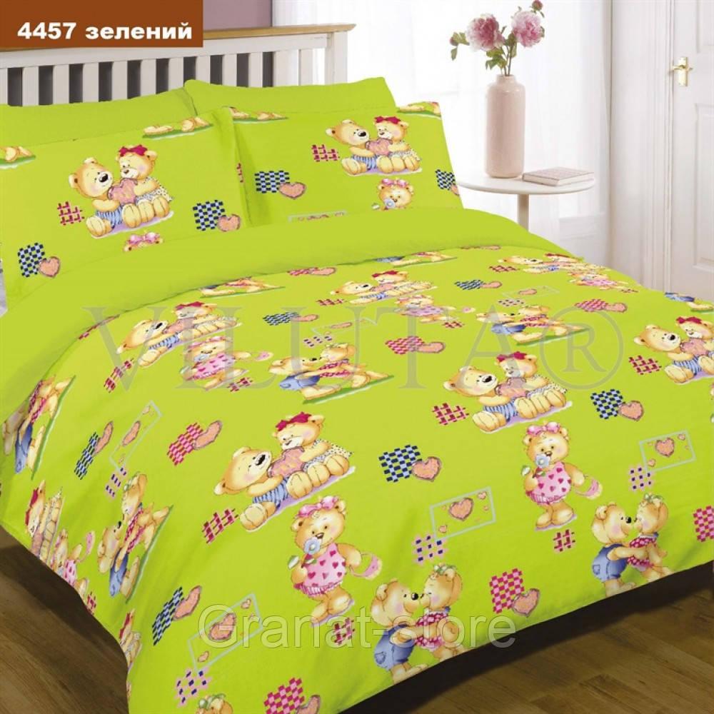 4457 зеленый Комплект постельного белья детский ранфорс Вилюта.