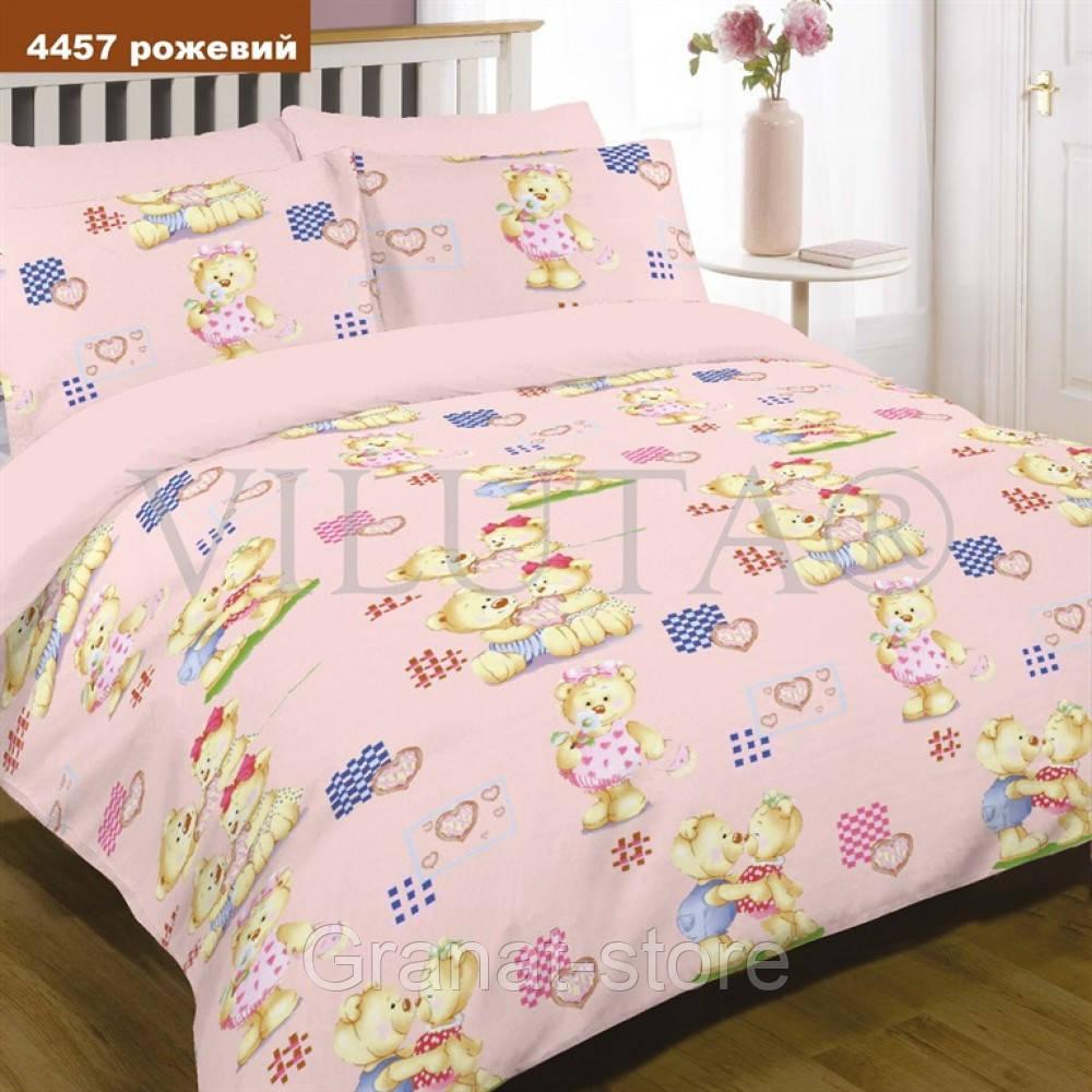 4457 розовый Комплект постельного белья детский ранфорс Вилюта.