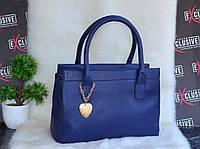 Синяя женская сумка с сердечком., фото 1