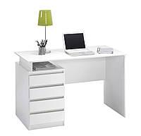 Столик письменный для ноутбука ламинированный белый (4 ящика), фото 1