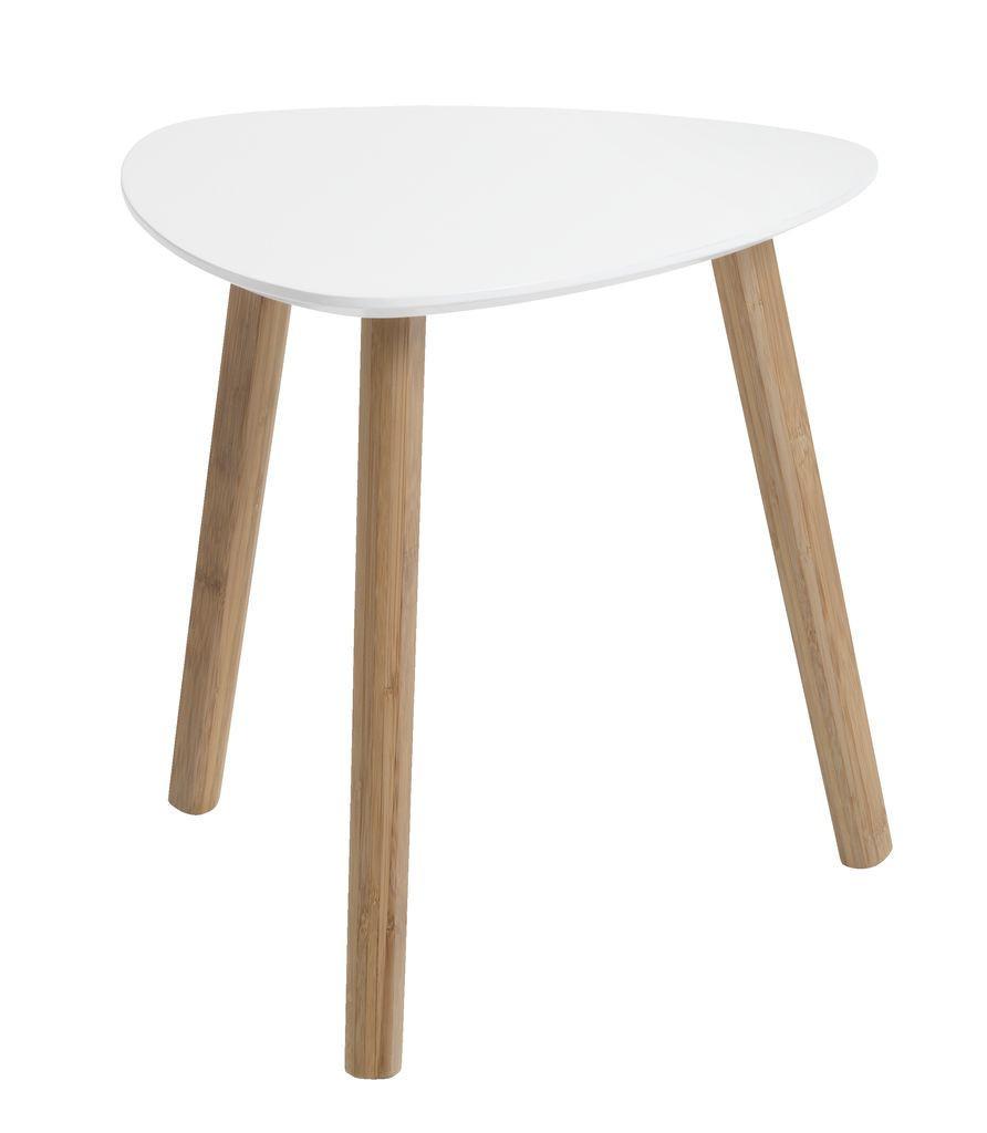 Столик приставной (табурет) 40см белый