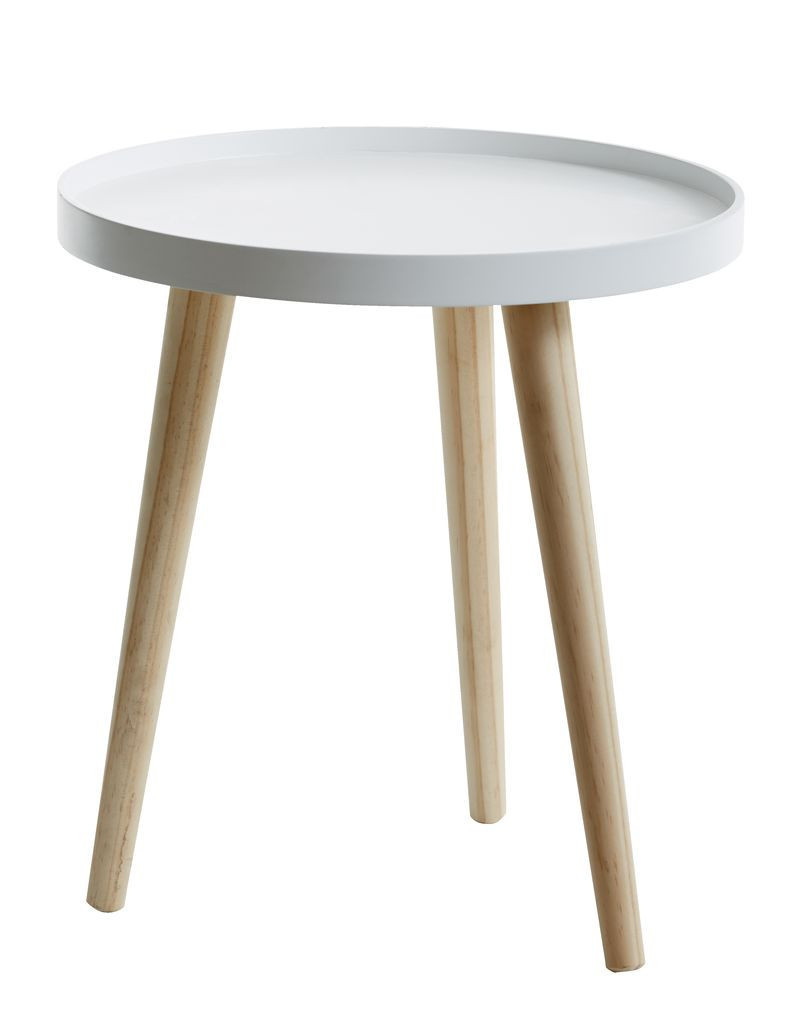 Столик приставной круглый белый  диаметр 40 см