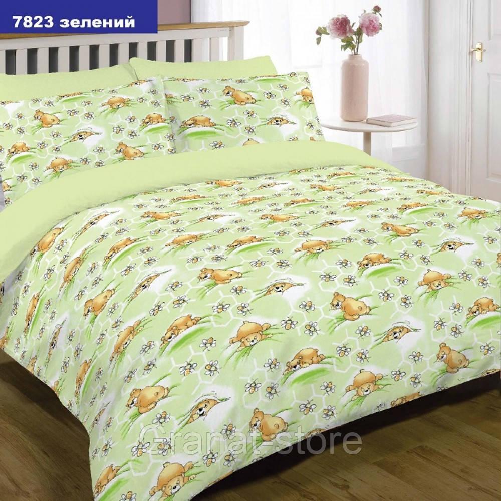 7823 зеленый Комплект постельного белья детский ранфорс Вилюта.