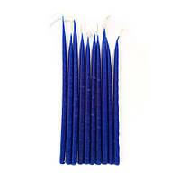 Свечи маканые часовые синие, 10 шт