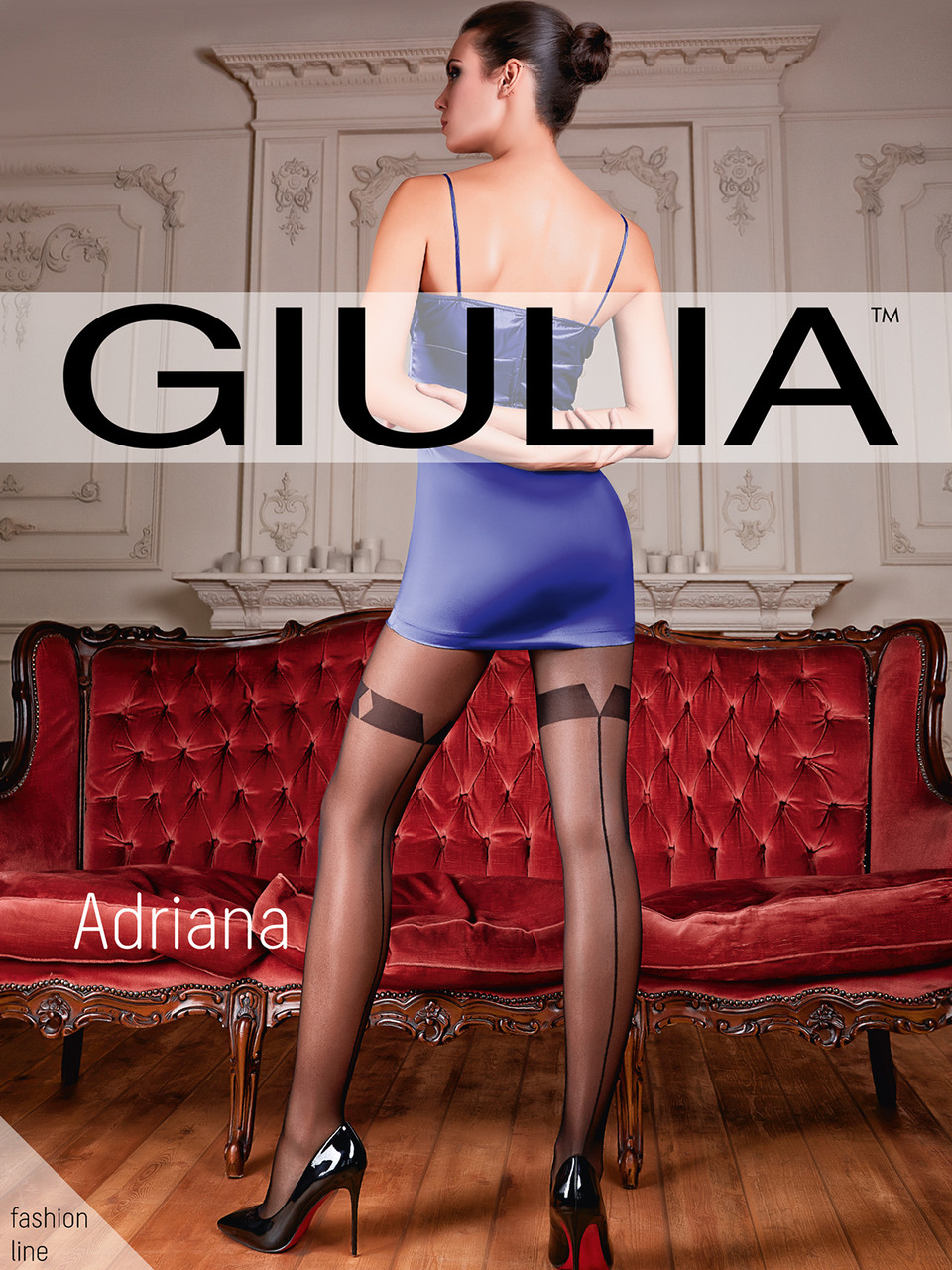8dababcc02fa Фантазийные колготки с имитацией чулка 20den Giulia ADRIANA 02