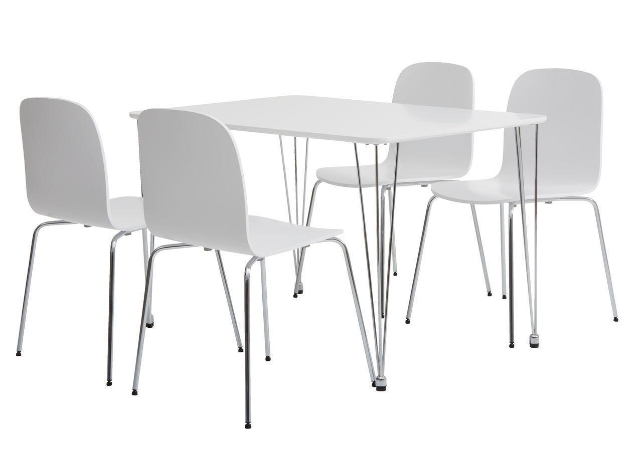 Комлект кухонный ( стол 120 см + 4 стула ) белые