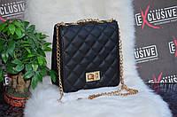 Мини-сумка  черная