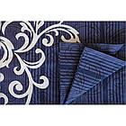 8630 синий Постельное белье ранфорс, фото 2