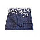 8630 синий Постельное белье ранфорс, фото 3