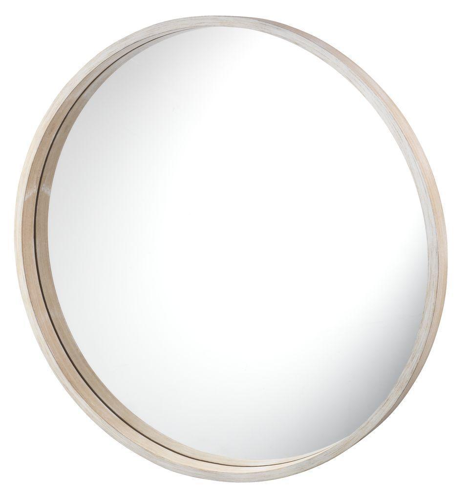 Зеркало круглое лакированное 55см натура