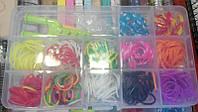 Набор 304-4 (480) резинки для плетения 480шт +станочек, клипсы, крючек в коробке