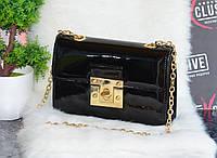Лаковая сумочка черная., фото 1