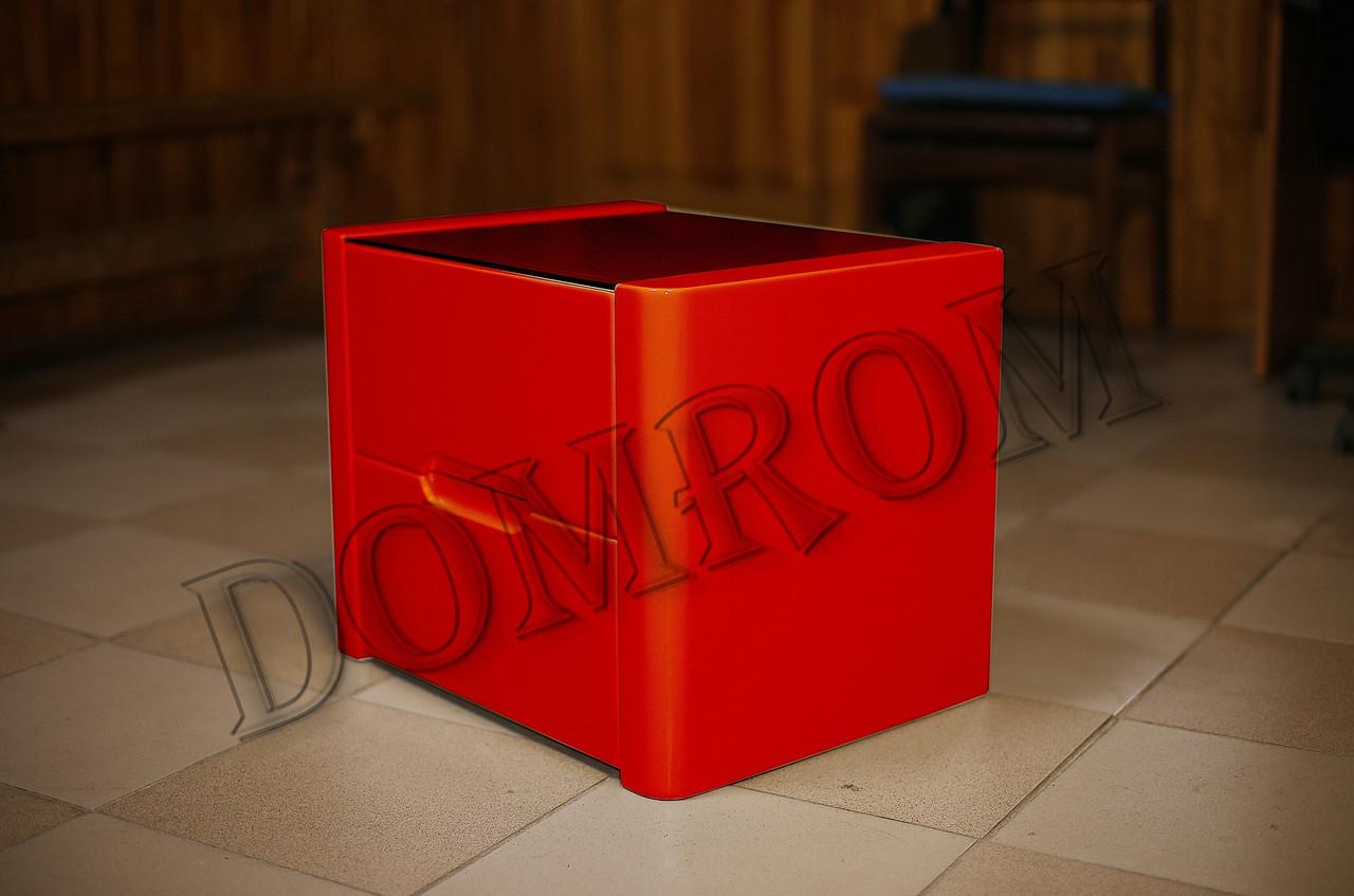 """Прикроватная тумба из дерева """"Орео"""" красная"""
