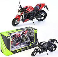 Игрушка Мотоцикл видижный руль, выкидная подножка, пружинная подвеска