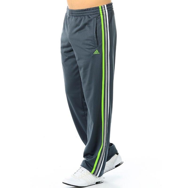 Брюки спортивные мужские adidas ESS 3S M67827 (серые, эластик, тренировочные, прямые, с логотипом адидас)