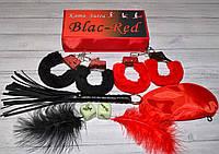 """Гарячий еротичний набір для пристрасної пари """"Red-black SEX""""."""