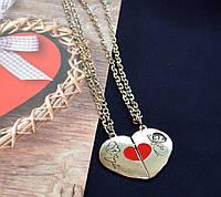"""Кулоны для влюбленных """"Красное сердечко"""""""