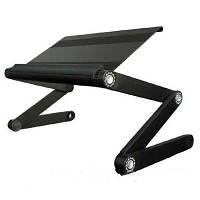 Подставка для ноутбуков, столик, ножки-трансформеры, высота и положение регулируются, охлаждающее действие