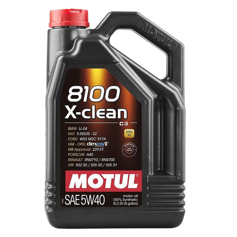 Масло моторное Motul 8100 X-clean 5W-40 5л