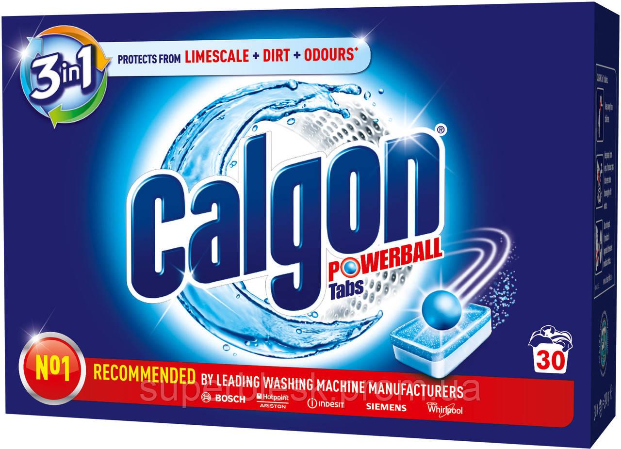 Средство для смягчения воды и предотвращения накипи в стиральных машинах Calgon 3 в 1 в таблетках 30 шт.