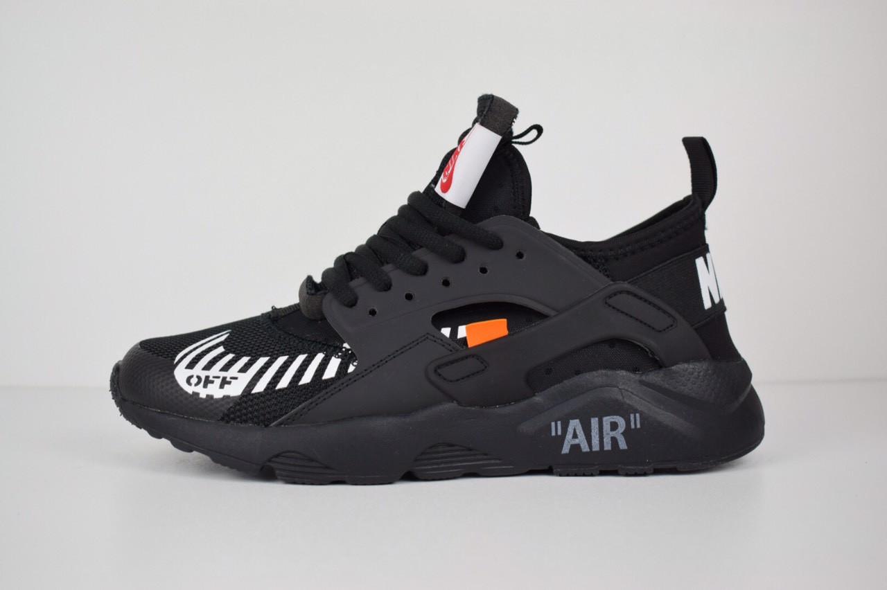 6f2dcf8bda5a8a Чоловічі кросівки Nike Air Huarache Off, чорні повністю - BEST-CROSS в  Хмельницком