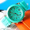 Часы Geneva Женева мятные с силиконовым ремешком