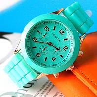 Часы Geneva Женева мятные с силиконовым ремешком, фото 1