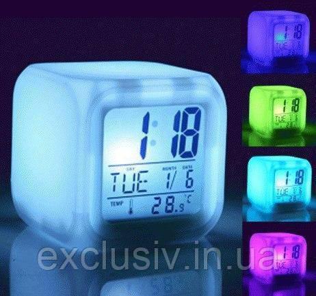 Ночник-будильник с термометром
