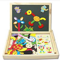 Детская игрушка. Деревянная магнитная развивающая доска