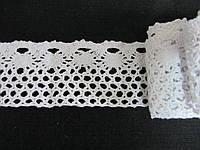 Тесьма белая ажурная хлопок 5 см (моток 5 м), 100
