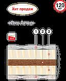 Двоспальний матрац Коко-латекс (Велам) 180х200х20см безпружинний кокос+латекс з/л до 120кг, фото 2