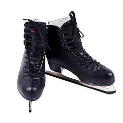 Коньки фигурные женские Teku TK-082 размер 39 цвет черный