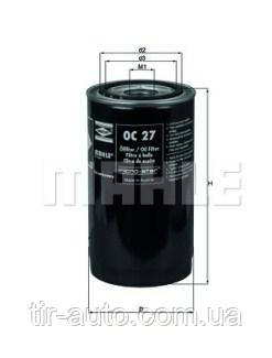 Фильтр масляный DAF F 1100, F 2100, F 2300, F 2500, F 900 (Knecht-Mahle)