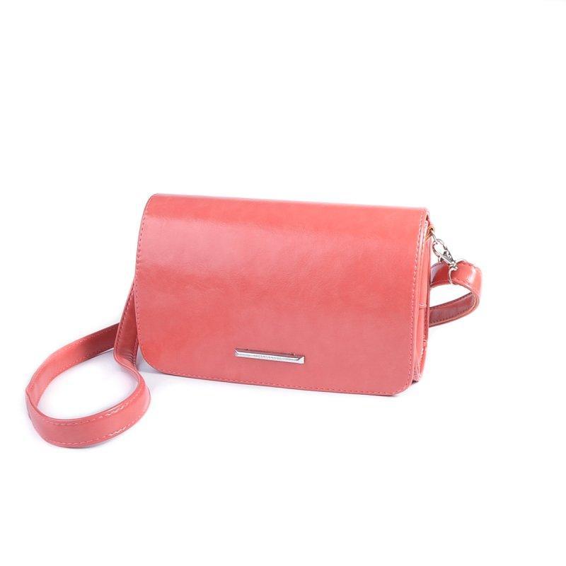 d7d53f990ae5 Коралловая сумка-клатч М63-20 через плечо с клапаном - Интернет магазин  сумок SUMKOFF