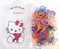 Силиконовые резиночки в сумочке Hello Kitty