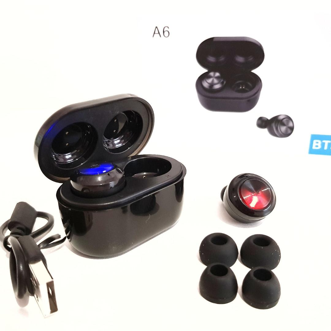 Беспроводные Bluetooth наушники Air Twins A6 с боксом для зарядки