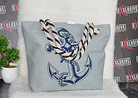 Женская тканевая пляжная сумка Море, фото 1