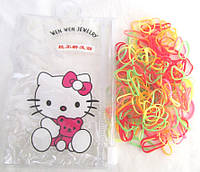 Яркие силиконовые резиночки в сумочке Hello Kitty