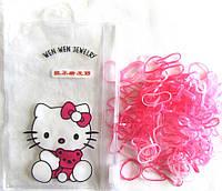 Розовые силиконовые резиночки в сумочке Hello Kitty