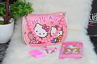Розовый набор сумка и аксессуары Hello Kitty (Хелоу Китти).