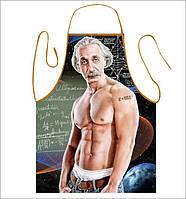 """Мужской фартук с приколом """"Энштейн"""" с водоотталкивающей пропиткой."""