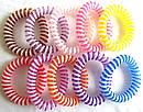 Резинка пружинка большая цветная с белой полосой d 5,5 см 50 шт/уп, фото 5